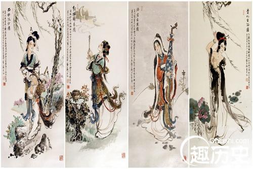 中国古代四大美女 古代四大美女是谁 沉鱼落雁闭月羞花的故事 趣历史